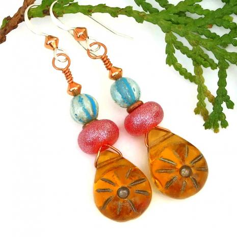 Summer earrings for her.