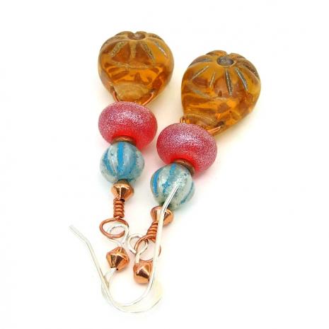 Summer sunburst earrings.