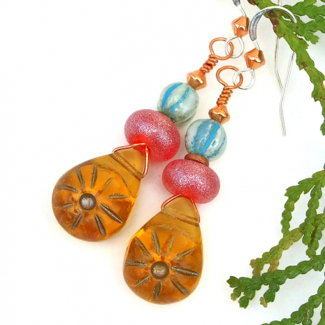 sun earrings gift for women