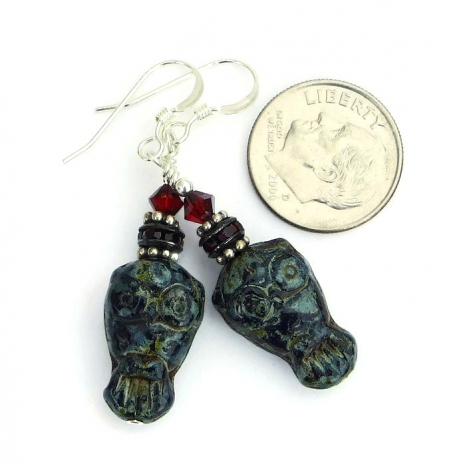One of a kind handmade owl earrings.