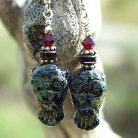 Owl earrings.