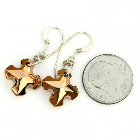 greek cross jewelry swarovski crystal gift for her