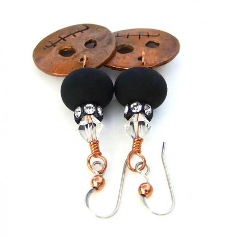Gremlin Halloween earrings.