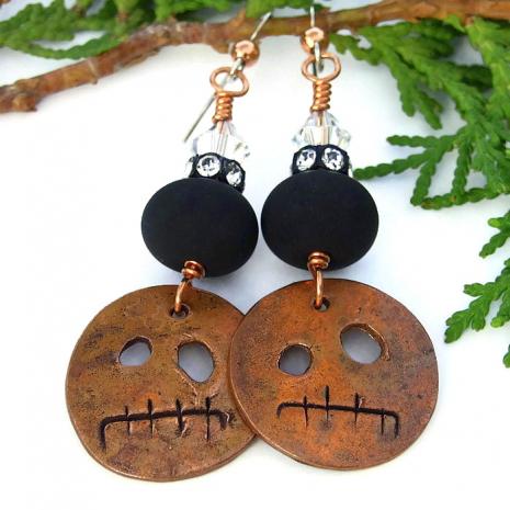 Gremlin handmade earrings with lampwork.