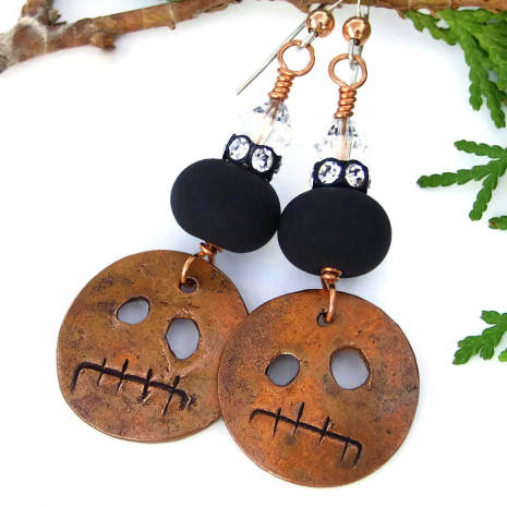 Halloween earrings.