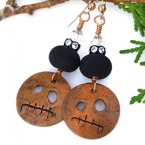 Halloween earrings.