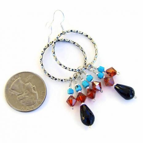 Gypsy earrings, gift idea for her.