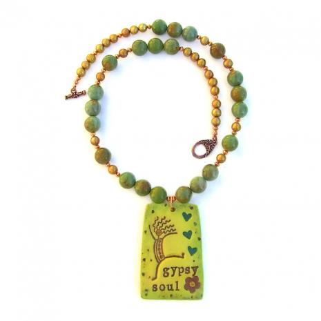 Handmade Gypsy Soul Necklace for women.