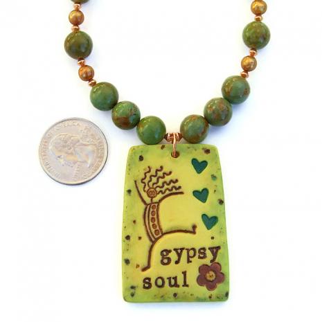 Boho Gypsy Soul necklace.