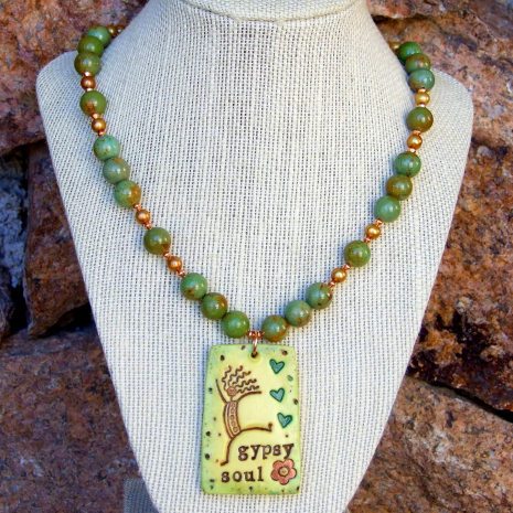 Handmade necklace for a woman with a Gypsy Soul!