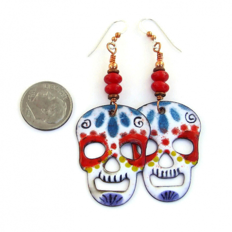 halloween day of the dead skull jewelry