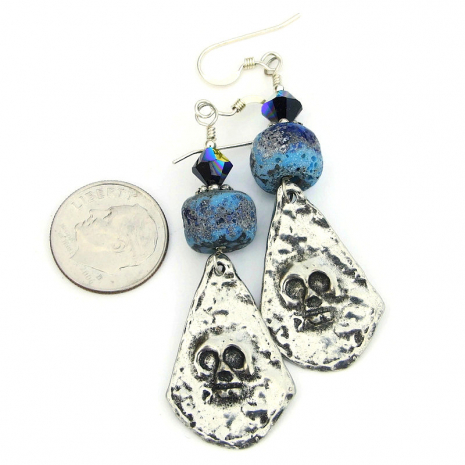 halloween day of the dead skull jewelry gift for her