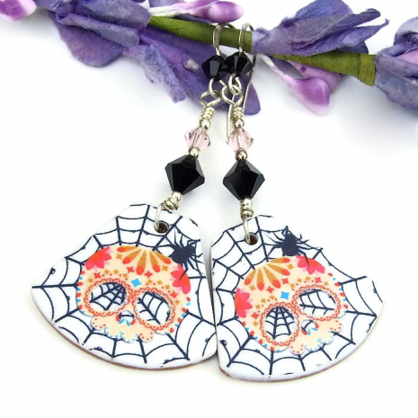 sugar skull earrings gift idea for women
