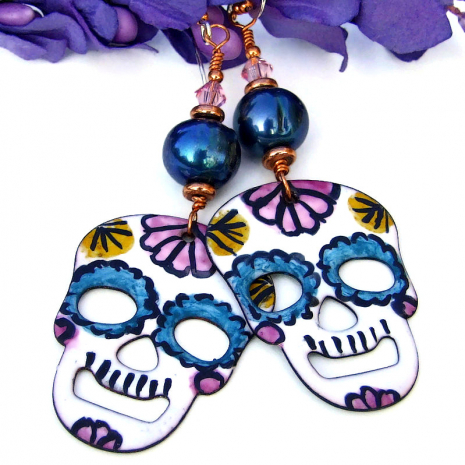 halloween day of the dead sugar skulls jewelry