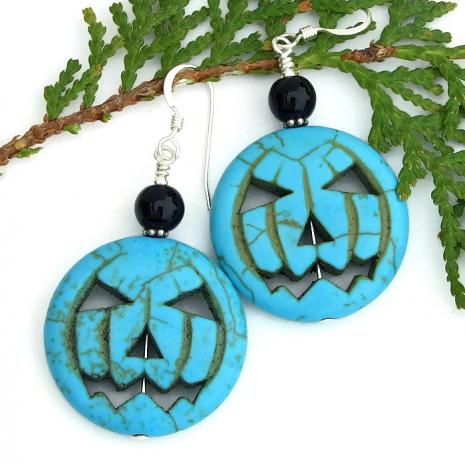 Jack O Lantern Halloween earrings