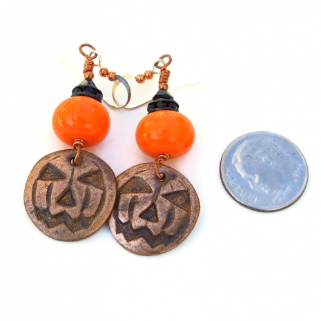 halloween jack o lantern pumpkin jewelry gift for her