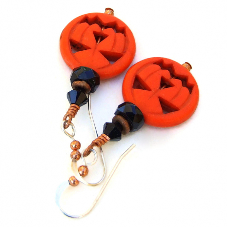halloween pumpkin jewelry gift for women