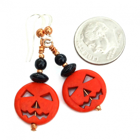 halloween pumpkins earrings gift for women