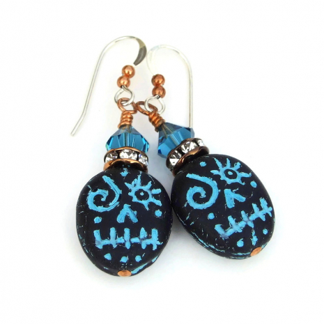 halloween voodoo skull earrings for her