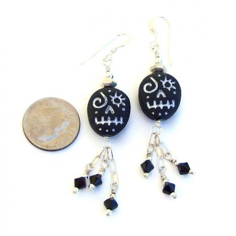 halloween voodoo skull jewelry for her