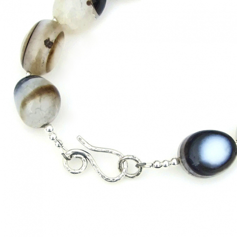 Sterling silver hook clasp