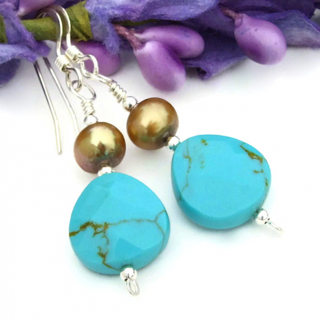 handmade turquoise earrings