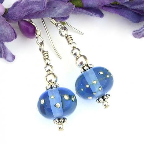 artisan handmade blue jewelry