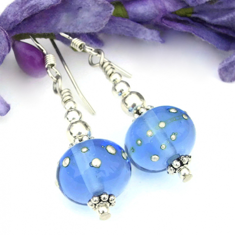 handmade blue and silver jewelry gift