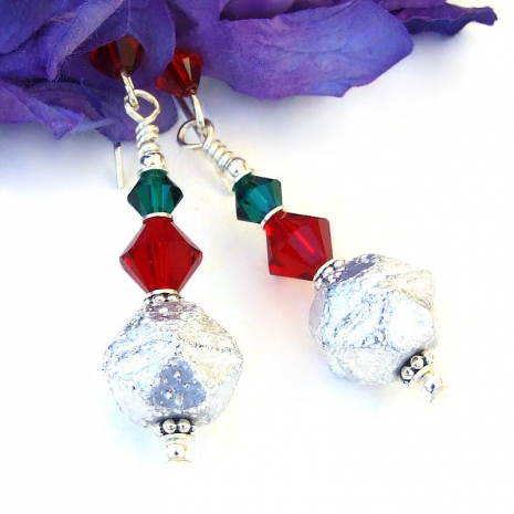 handmade christmas jewelry with swarovski crystals