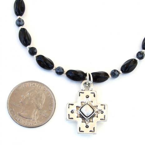 handmade cross jewelry with gemstones