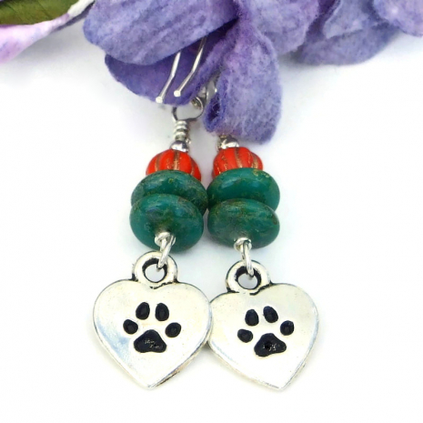 handmade earrings dog lover jewelry