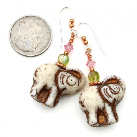 handmade elephants jewelry gift for her