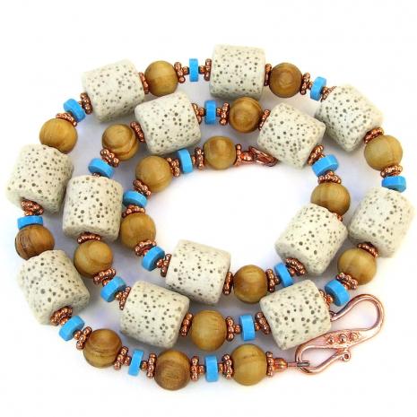handmade gemstone and wood jewelry gift for women