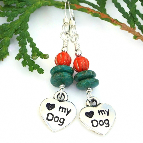 handmade jewelry dog lover earrings