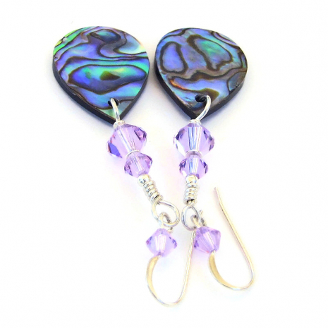 handmade jewelry paua abalone shell swarovski crystals