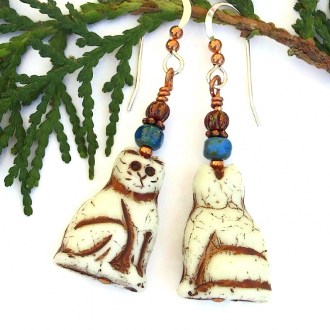 handmade kitty cat dangle jewelry