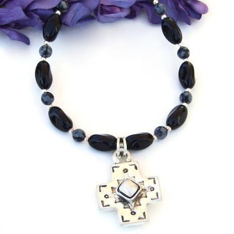 handmade Southwest cross jewelry gift for women