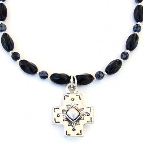 handmade Southwest cross necklace gift for women