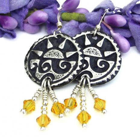 handmade summer earrings for her