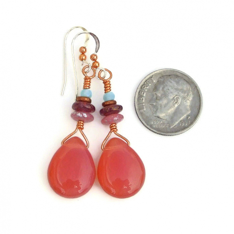 handmade teardrop earrings gift for her