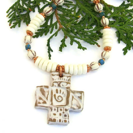 Healers hand cross jewelry.