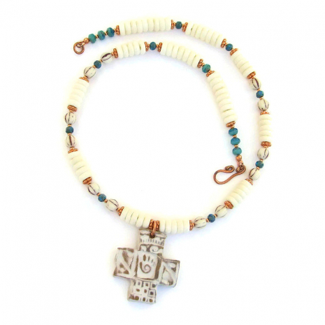 Southwest cross necklace.
