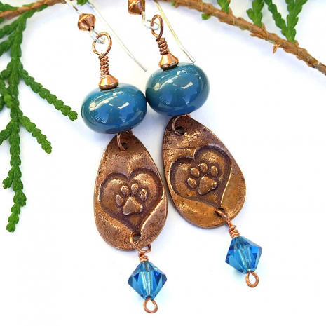 Handmade dog rescue earrings