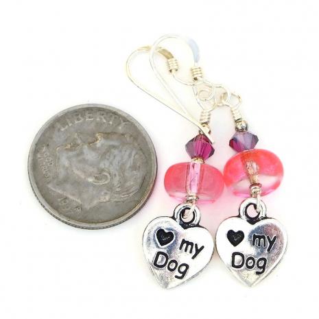 heart paw print dog jewelry