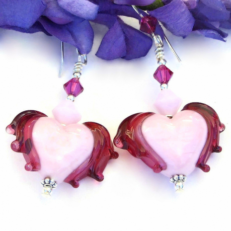 hearts earrings valentines gift