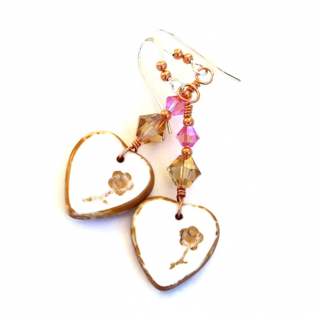 hearts flowers jewelry valentines gift for women