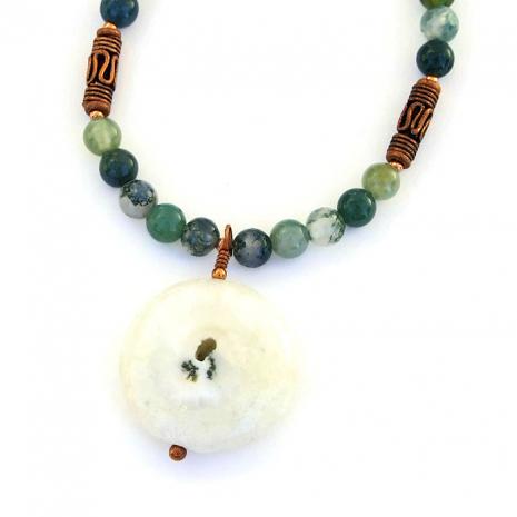 Solar quartz druzy jewelry.