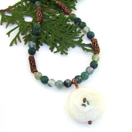 Solar quartz necklace.