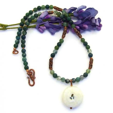 Solar quartz jewelry for women.