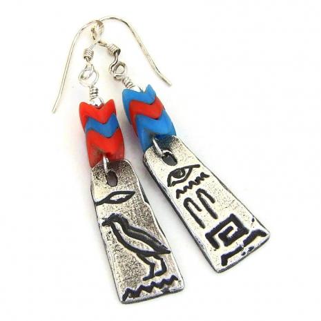 hieroglyphs handmade earrings